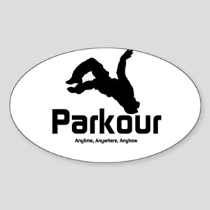 Parkour, Anytime Oval Sticker